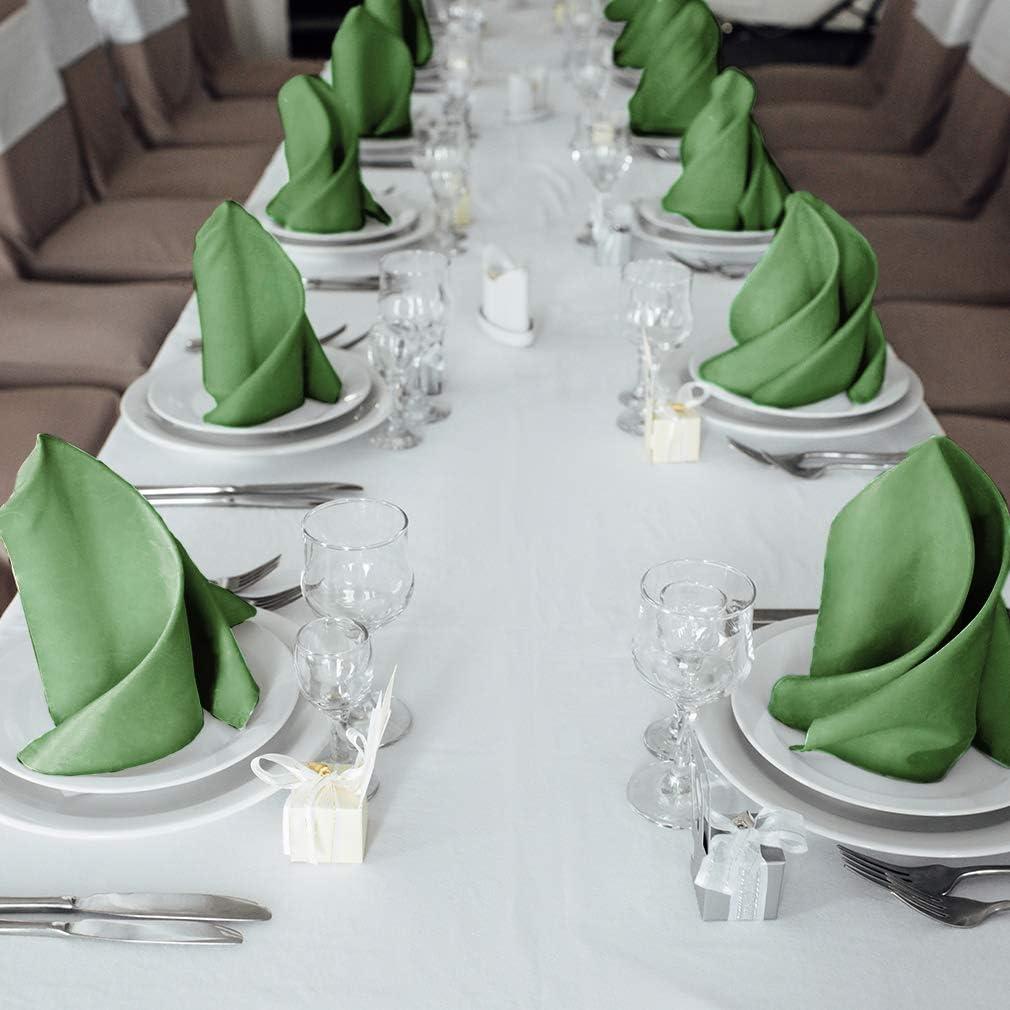 luxuri/ös weiche und Hotelqualit/ät 12 St/ück perfekt f/ür Veranstaltungen Hotel und Zuhause olivgr/ün brillanter Stoff Talvania Servietten aus Stoff Baumwollservietten 45,7 x 45,7 cm
