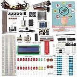Sunfounder Project Super Starter Kit for Raspberry Pi Model B+ w/ 40-Pin GPIO Extension Board, GPIO Cable, H-Bridge L293D, ADXL335, DC Motor, 7-Segment, Dot Matrix Display