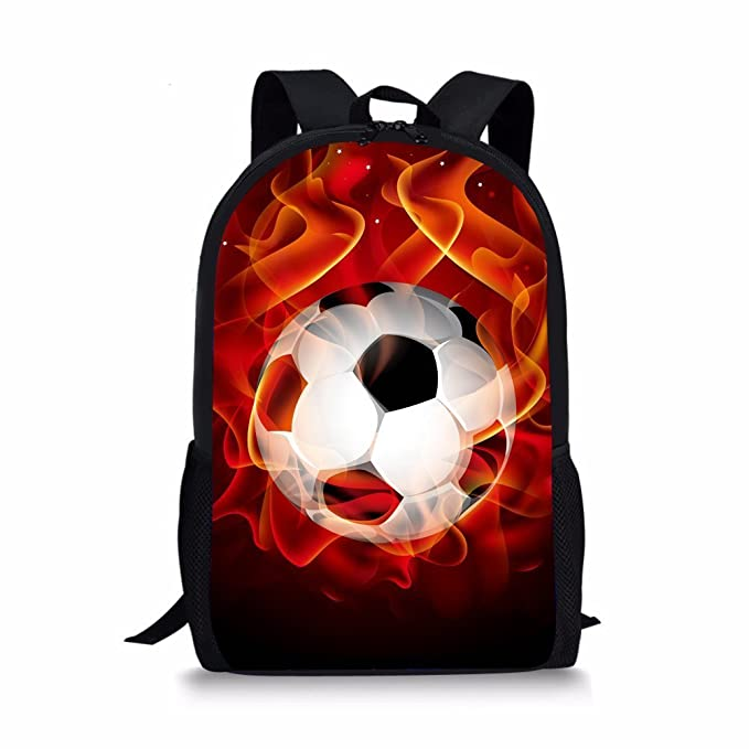 Showudesigns Personalized Young Boys Kids Backbag Durable Football Backpack Rucksack