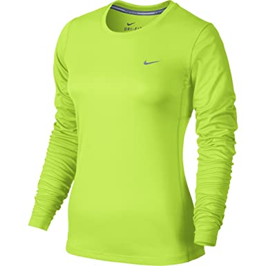 2fdcda061 Nike Women's Dri-fit Miler L/S Running Top at Amazon Women's Clothing store:
