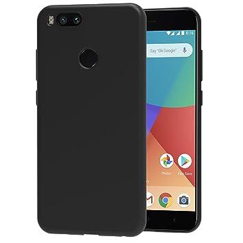 iVoler Funda Carcasa Gel Negro para Xiaomi Mi A1 / Xiaomi Mi 5X, Ultra Fina 0,33mm, Silicona TPU de Alta Resistencia y Flexibilidad