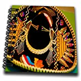 3dRose db_52074_3 A Large Mexican Hat Hanging on a Wall at a Restaurant in with Bright, Vibrant Yellow and Black Mini Notepad, 4 by 4''