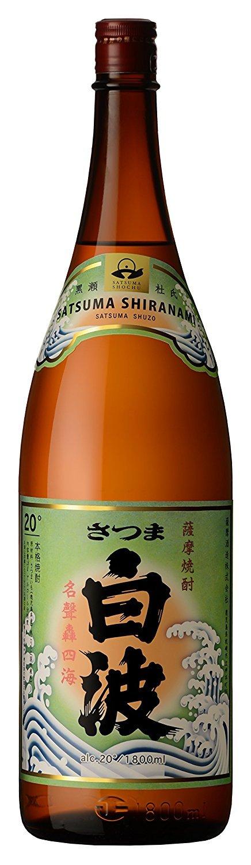 芋焼酎 25度 さつま 白波 1800ml 瓶 × 6本 (1.8L) (白波 しらなみ 鹿児島県) 薩摩酒造 B07CXJ7DCS