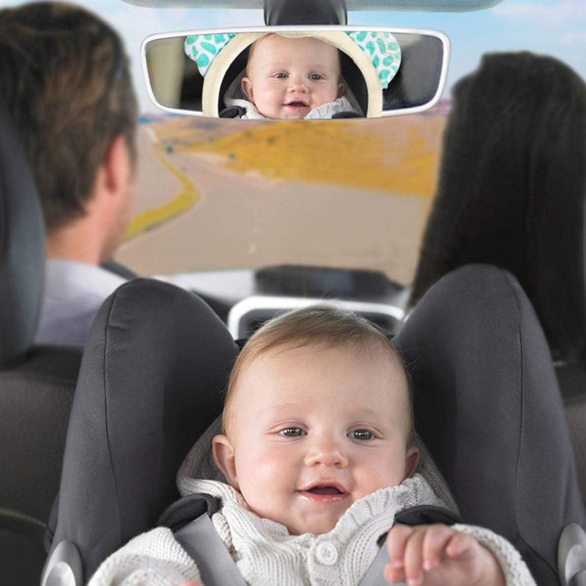 guoyy Baby Monitor Specchio retrovisore auto sedile posteriore Baby Easy View regolabile Utile Cute Infant per bambini bambino bambino
