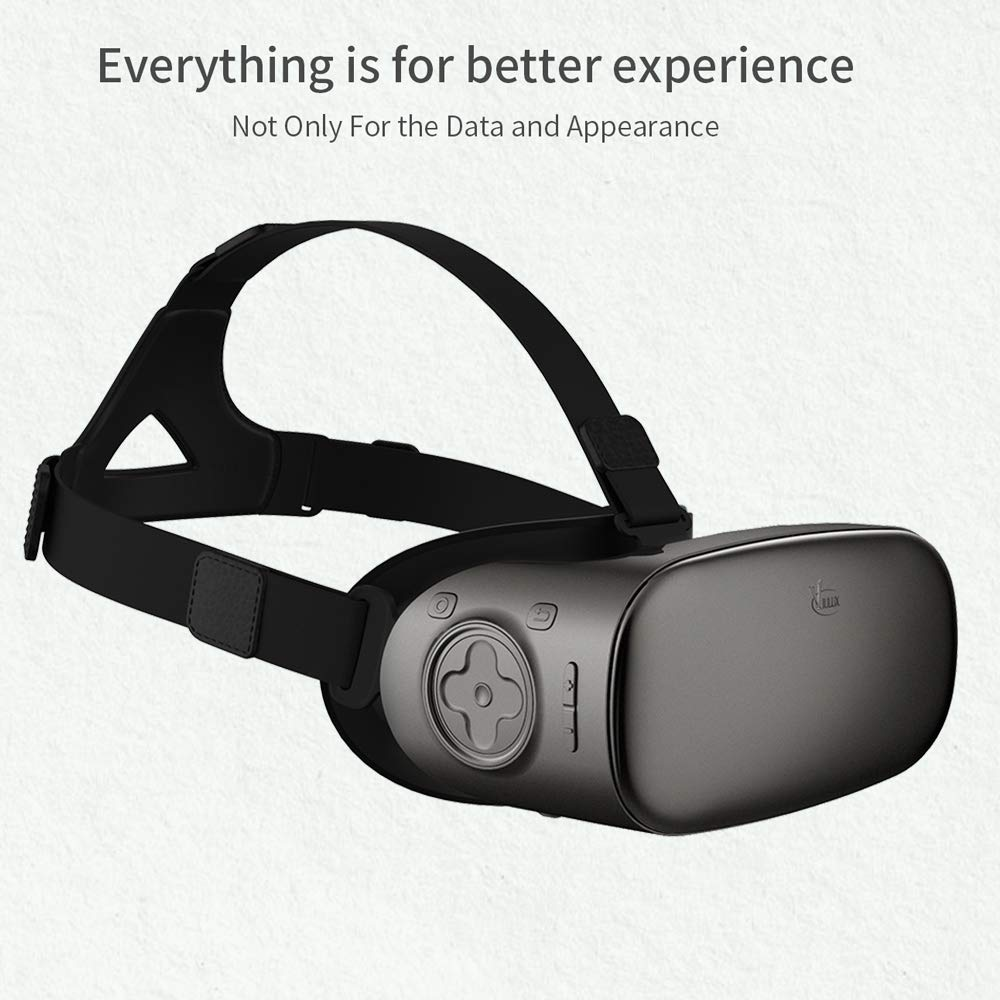 16GB Immersive WiFi BT4.0 Festnight VIULUX V6 Virtual Reality Glasses Mobile All-in-one Machine 3D VR Headset 1080P 5.5Inch Display Screen 110 Degree FOV 2GB
