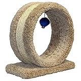 Cat Scratcher Cat Ring, 14'' Cat Scratch Toy for Large Cats, Best Indoor Scratcher & E-Book