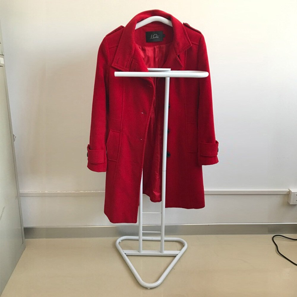 Simple suit / clothes rack / floor hangers / bedroom coat rack / hotel office creative hanging hot ( Color : White )