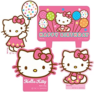 amscan Hello Kitty Mini Molded Candles - 4/Pkg.