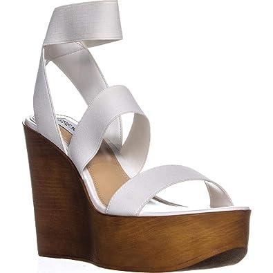 867330a51be Steve Madden Womens Blondy Open Toe Casual Platform Sandals