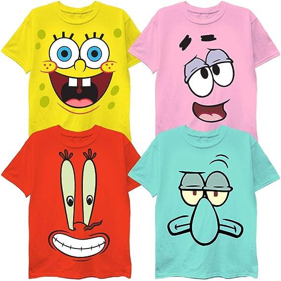 Nickelodeon Spongebob Squarepants Boys 3 Pack T-Shirts