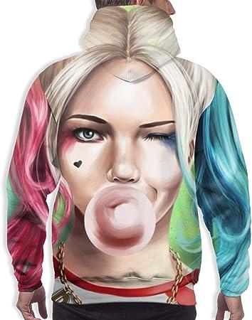 Sudadera con capucha para niña de payaso, diseño de Harley Quinn, unisex, 3D, estampada, ligera, para hombre y mujer