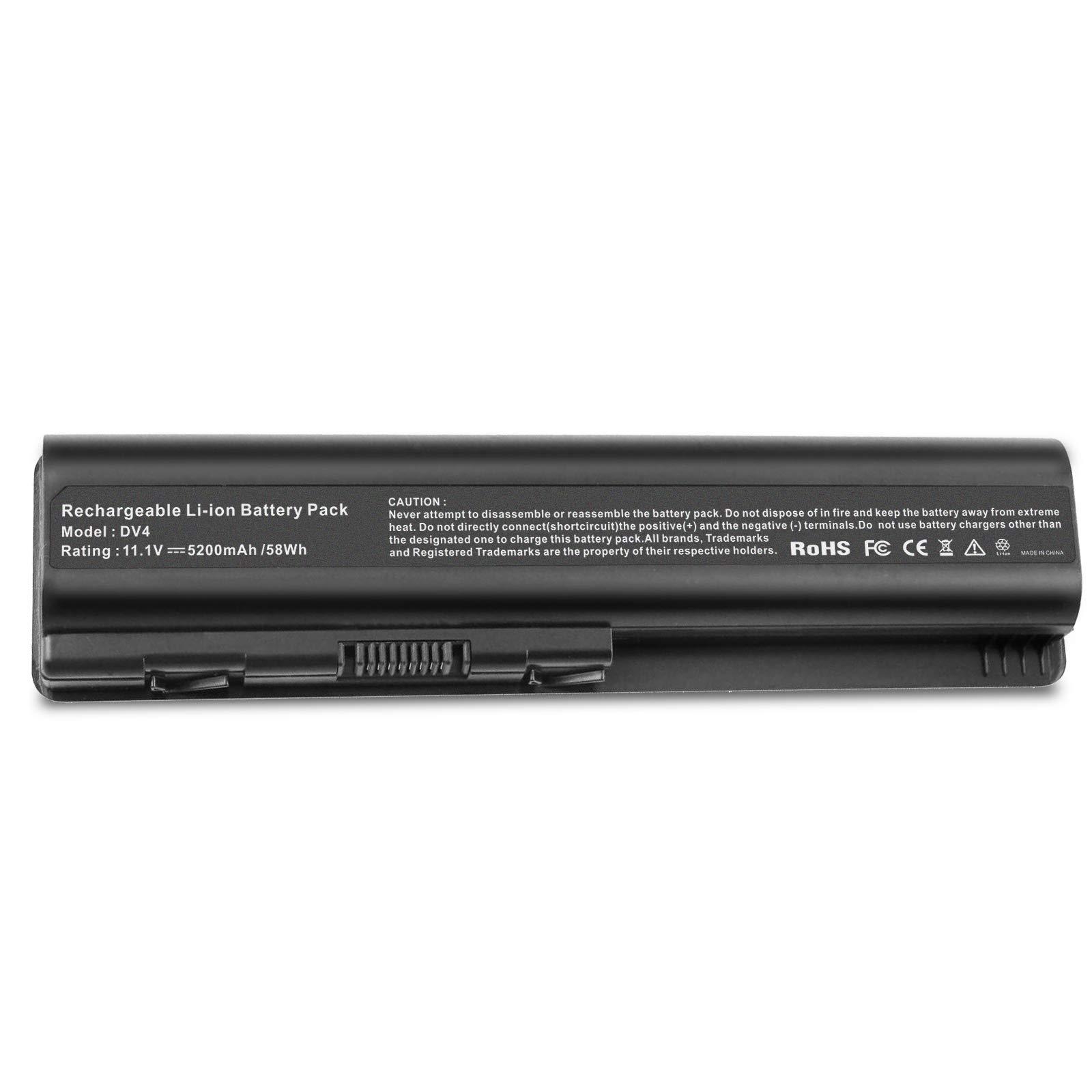 Bateria 5200mAh 11.1V DV4 para HP Pavilion DV4-1000 DV4-1120US DV4-1225DX DV4-1551DX DV4-1435DX DV4-1465DX DV4-1548DX DV