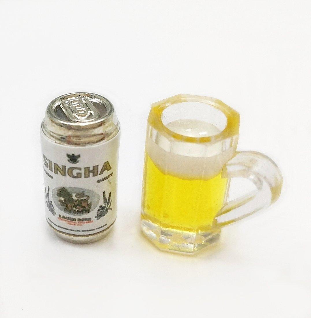 Set Set of 2ドールハウスミニチュアビールででき B079313JW1 of、プラスチックマグ B079313JW1, acrop:4d4ca45d --- alumnibooster.club