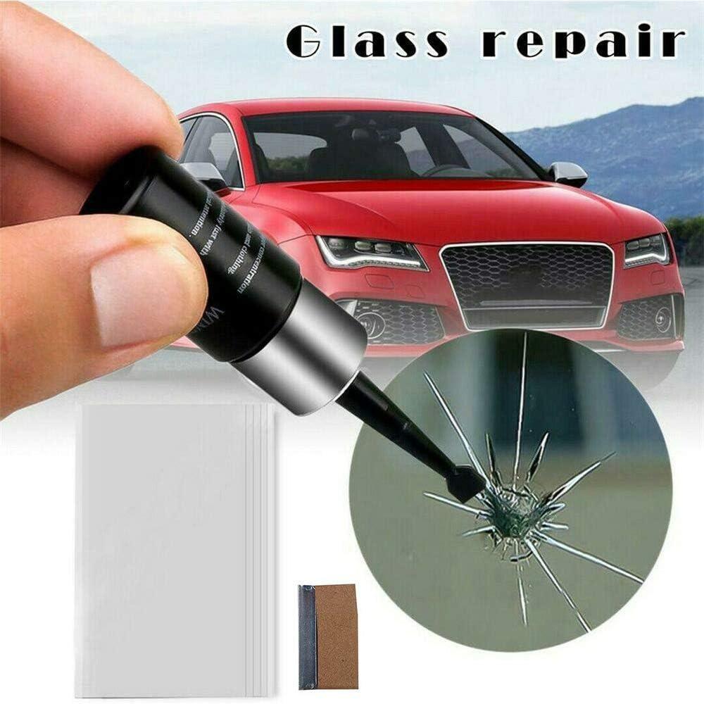 Agkupel Autoglas Nano Reparaturflüssigkeit Repair Tool Kit Windschutzscheibe Autofenster Glas Reparaturset Riss Chip Harz Fix Auto Glass Crack Chip Scratch Für Kratzern Rissen Auto