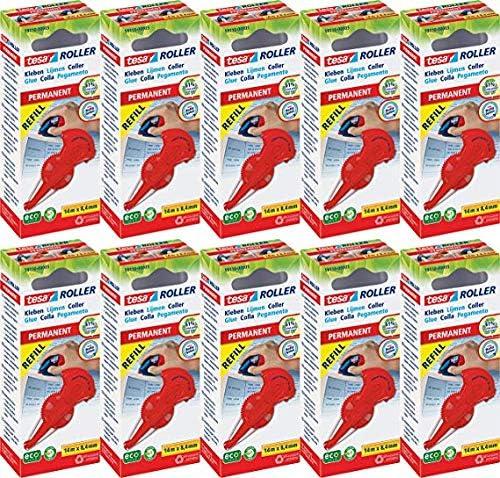Tesa Kleberoller permanent (10x Kleberoller permanent Nachfüllkassette)