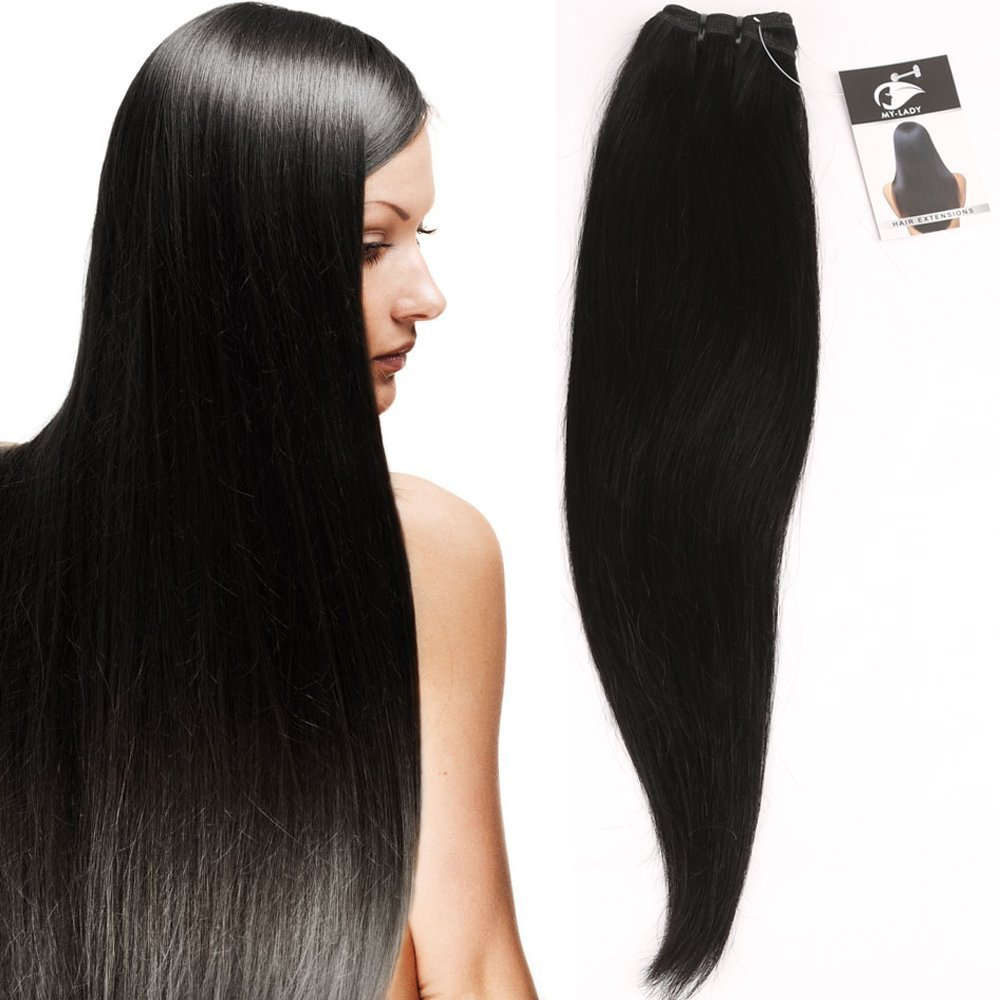 My-Lady 12 30cm 100G Extension Remy Human Hair Virgin Unprocessed Capelli Lunghi Lisci Brasiliani Matassa Tessitura My Lady
