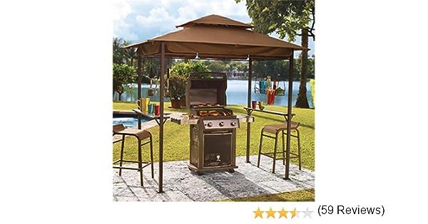 Amazon Brylanehome Grilling Gazebo Taupe Canopy Patio Lawn Garden
