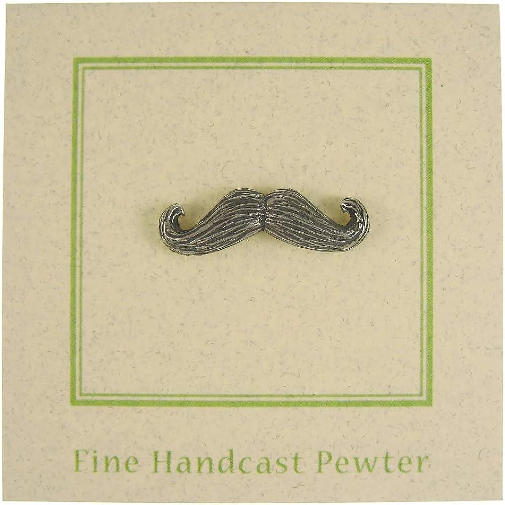 25 Count Jim Clift Design Moustache Lapel Pin