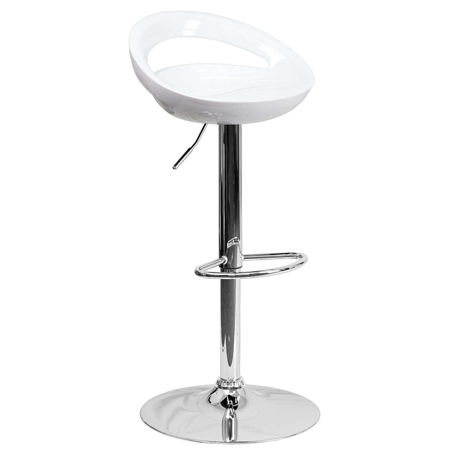 White Adjustable Swivel Bar Stools, Chairs for Cafe Kitchen Bar Counter Top (Black),Red