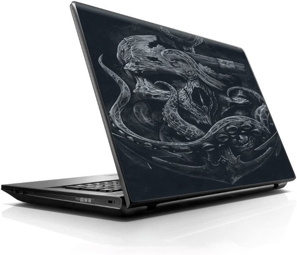 """15 15.6 inch Laptop Notebook Skin vinyl Sticker Cover Decal Fits 13.3"""" 14"""" 15.6"""" 16"""" HP Lenovo Apple Mac Dell Compaq Asus Acer / Skull Anchor Octopus Under Sea"""