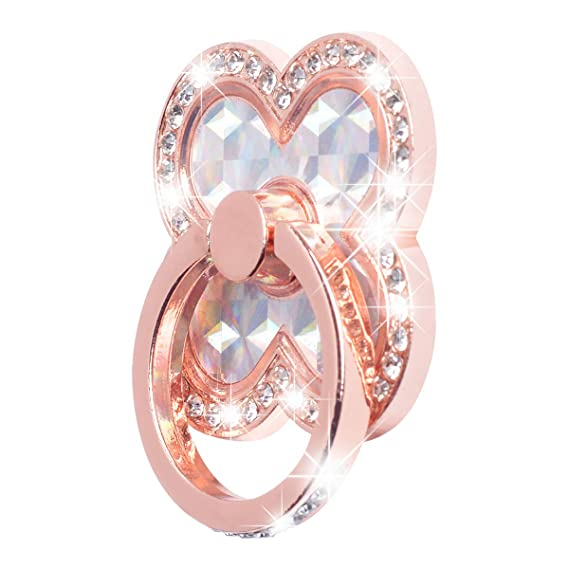 Finger Ring Phone Holder With Bling Diamond 360 Degree Smartphone Stander For Iphone Samsung Universal Metal Cell Phone Mount Mobile Phone Accessories