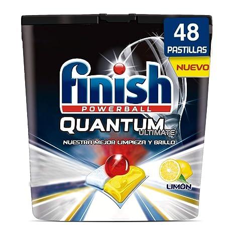 Finish Quantum Ultimate Detergente para Lavavajillas Limón 48 pastillas