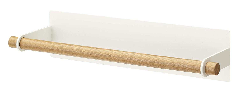 YAMAZAKI home 2567 Magnetic Paper Towel Holder-Tosca Kitchen Storage, Brown, Medium