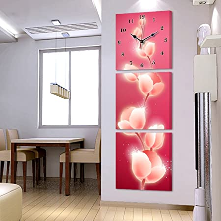 Max Home @ Modern Living Room Triple Painting Bell Vertical Hanging ...