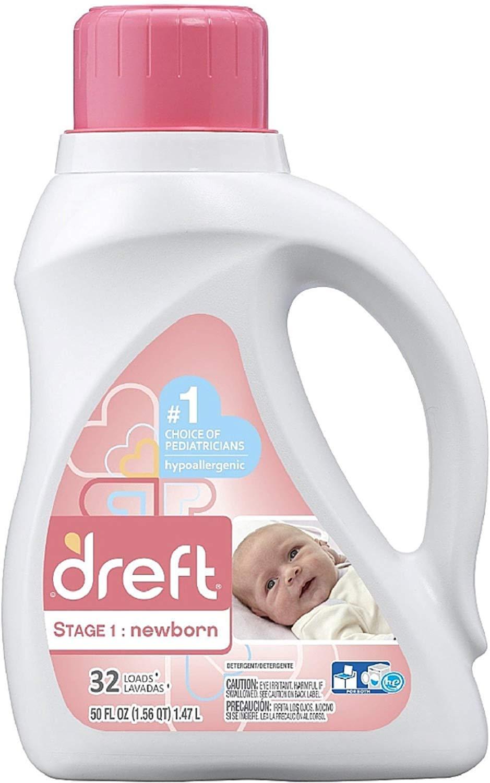Dreft Stage 1: Newborn Liquid Laundry Detergent 50 oz (Pack of 5) by Dreft