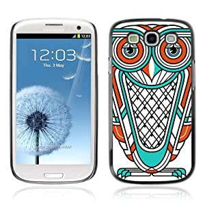 Designer Depo Hard Protection Case for Samsung Galaxy S3 / Cool Owl Tattoo
