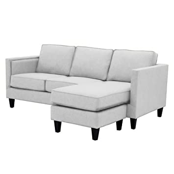 Amazon.com: Anderson Reversible Chaise Sofa, Stone: Kitchen ...