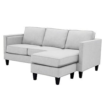 Amazon.com: Anderson Reversible Chaise Sofa, Stone: Kitchen ...