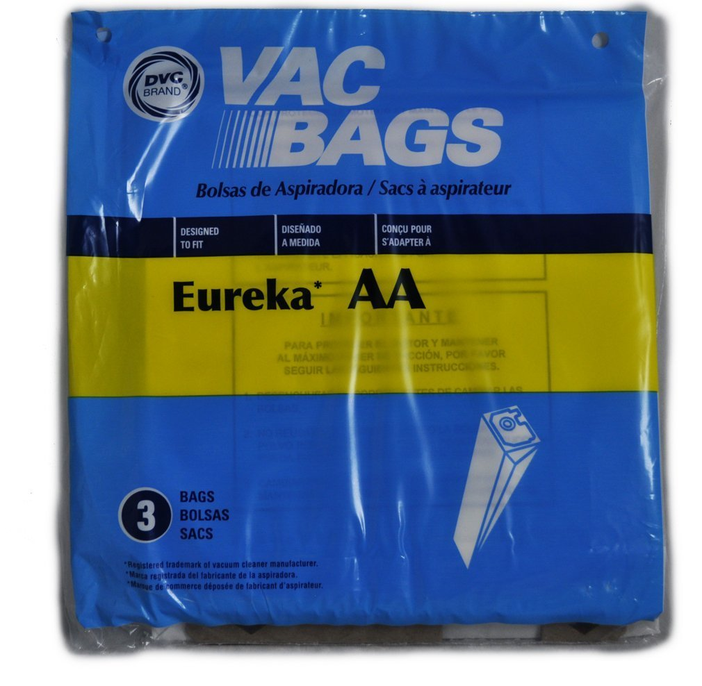 Eureka Victory AA Vacuum Cleaner Bags, DVC Replacement Brand, designed to fit Eureka Victory Upright Vacuum Cleaner Models 4300 & 4400 Series, 3 bags ...