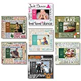 PRINZ Typography Dance Wood Frame, 6 by 4-Inch