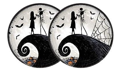 nightmare before christmas halloween paper plates jack skellington - Nightmare Before Christmas Halloween