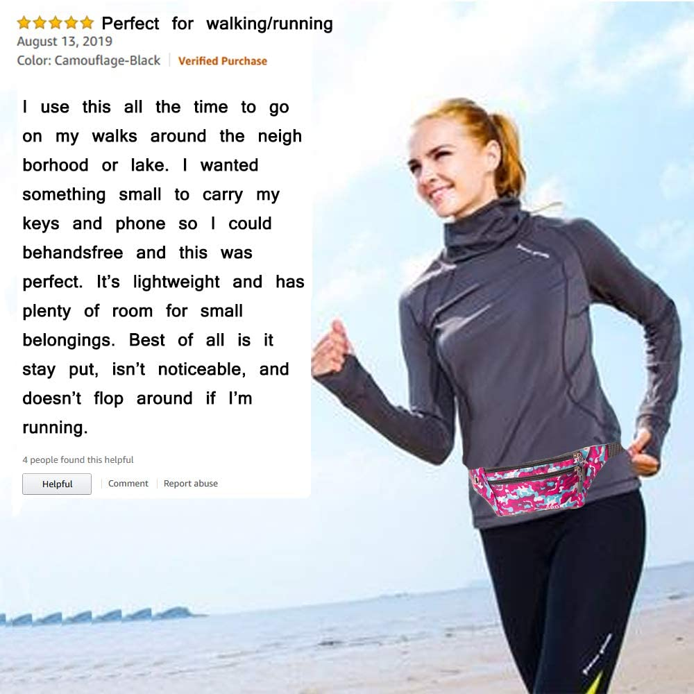 Ultra Light Close-Fitting Pouch Water Resistant Universal Phone Holder for Running Walking Exercise Workout Gym Hiking Jogging Fitness Melveiry Slim Running Belt Waist Bag Fanny Packs for Men Women
