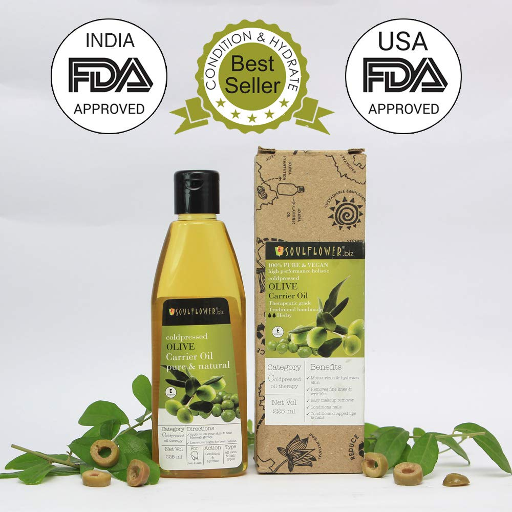 Soulflower Olive Oil for Skin, 225ml product image