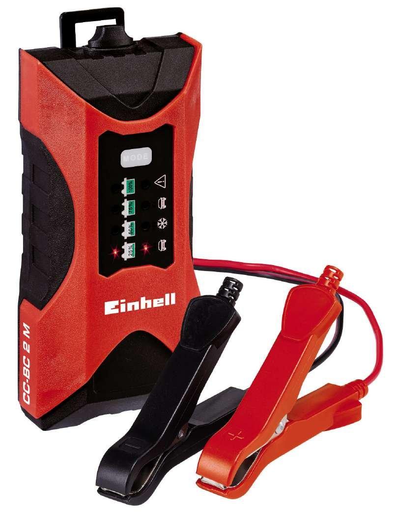 Einhell CC-BC 4 M Batterie, Tensione di Carica 6/12 V, Rosso/Nero, 3-120 Ah 1002221