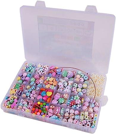 FABA 550 Pcs Perlas Abalorios Bolas de Plástico DIY Regalo para ...