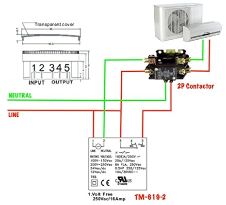 Tsktech Double Pole Contactor Relay For Power Switch On Off Control Of Loads 16amp Amazon In Home Improvement