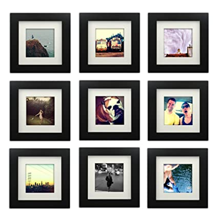 Amazon.com - 9-set, Tiny Mighty Frames - Wood Square Instagram Photo ...