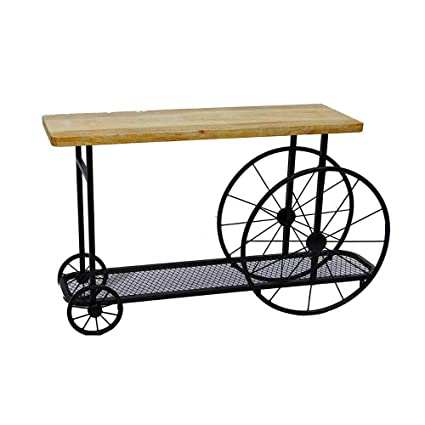 Amazoncom Metal Console Table Storage Rustic Entry Table Hallway