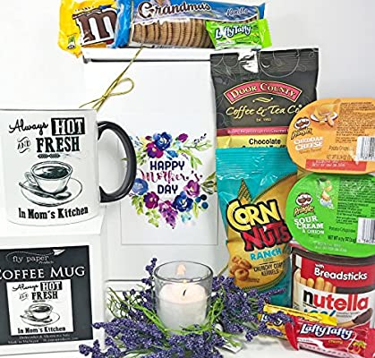 Mother S Day Gift Box Basket Send Your Happy Mother S Day Wishes Today With This Exclusive Boxed Mug A Candle And Some Tasty Treats
