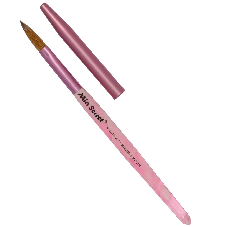 Amazon.com : Mia Secret Oval Kolinsky Nail Brush Size #8 : Beauty