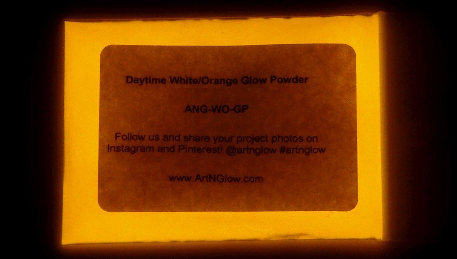 Neutral Orange Glow in The Dark Powder - 60g (2 Ounces) by Art 'N Glow