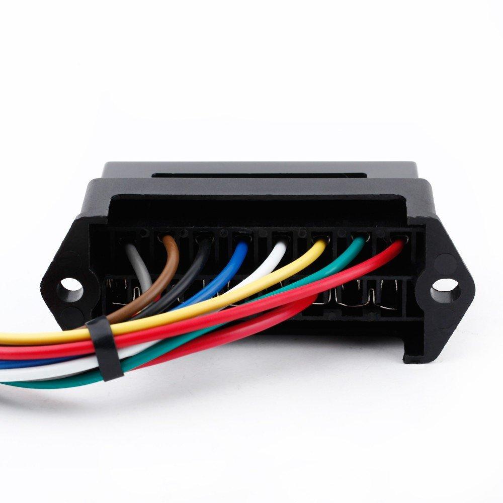 61BaDHvea2L._SL1000_ amazon com kkmoon 8 way dc32v circuit blade fuse box fuse block  at readyjetset.co
