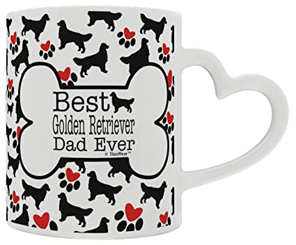 Amazon Com Golden Retriever Gift Best Golden Retriever Dad Ever Dog