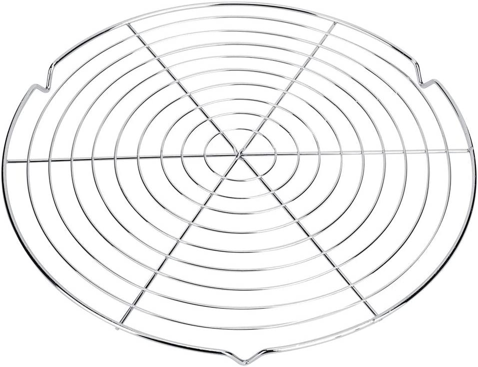 Eurobuy Round Shape BBQ Wire Mesh Grill Net Heat Resistance Stainless Steel Barbecue Mesh Grill Grid Rack Outdoor Camping Picnic Tool 12.8 Inch