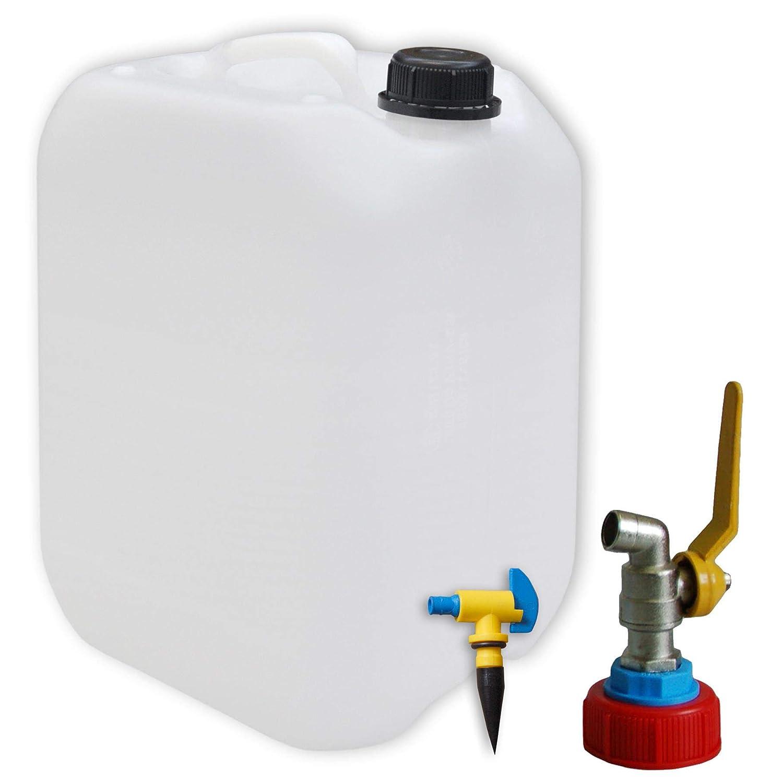 3 Stück 10 Liter Behälter Kanister Leerkanister naturweiß palettengerecht