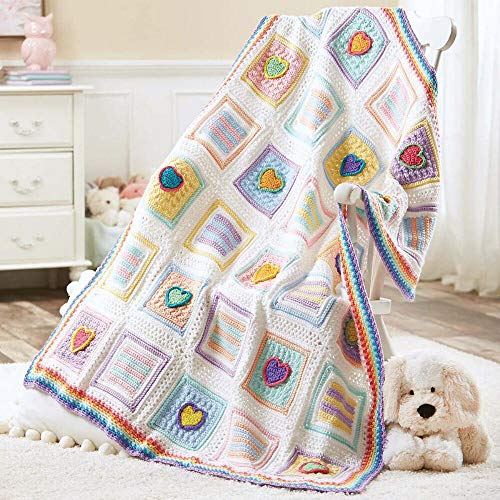 Herrschners® Candy Hearts Baby Afghan Crochet Yarn Kit by Herrschners® (Image #1)